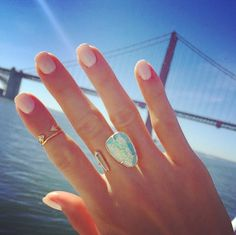 Kendra Scott Aussie Open Ring in Aqua Kyocera Opal