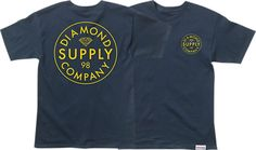 Diamond Stamped T-Shirt - now available at Warehouse Skateboards! #whskate #spring2015 #skateboarding