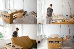 Łączenie pracy z domem wykorzystując minimalną przestrzeń to bardzo sprytny pomysł:-)