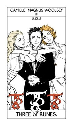 Shadowhunter Tarot Cards, Camille Magnus Woolsey III ; art by Cassandra Jean