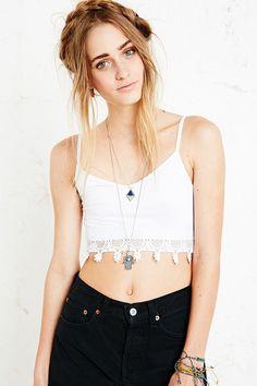 hair + macramee + necklaces long n short