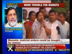 """A petition was today filed in the Supreme Court seeking contempt action against the West Bengal Chief Minister Mamata Banerjee for her remarks that judgements are delivered for money.    The petition filed by J Panthers' Party founder and senior advocate Bhim Singh alleged that Mamata's comments has the inevitable effect of """"undermining"""" the confidence of the public in the Indian judiciary as """"it tends to lower the integrity, reputation and authority"""" of the judicial system."""