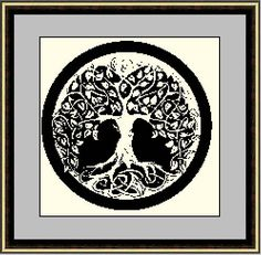 Tree of Life Cross Stitch Pattern PDF Instant by HeritageStitch