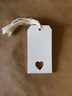 White Luggage Tags with Scallop Heart by VintageInspiredBelle