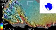 Huge Crater Left By Vanished Lake, Largest Flood Ever Beneath Antarctica Ice Mapped By Cryosat ESA's CryoSat satellite has found a vast crater in Antarctica's icy surface. Scientists believe the crater was left behind when a lake lying under about 3 km of ice suddenly drained.   Site of Crater: Location of the crater in Victoria Land, East Antarctica at about 73ºS and 156ºE. The colour scale shows height derived from CryoSat data. The crater is located within the white box.