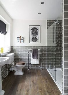 47 Awesome Farmhouse Bathroom Tile Floor Decor Ideas and Remodel to Inspire Your. 47 Awesome Farmhouse Bathroom Tile Floor Decor Ideas and Remodel to Inspire Your Bathroom 47 Awesome Farmhouse Bathroom . Best Bathroom Tiles, Wood Floor Bathroom, Bathroom Tile Designs, Grey Bathrooms, Bathroom Interior Design, Bathroom Flooring, Bathroom Ideas, Shower Tiles, Wood Flooring