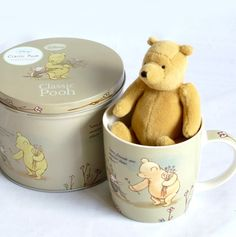 e2f71af7fe19 Classice Mini Winnie the Pooh Bear and Ceramic Cup in a Classic Pooh  Keepsake tin