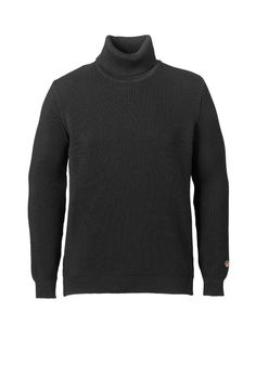 Yves Pullover in Black All About Time, Men Sweater, Turtle Neck, Pullover, Shorts, Winter, Sweaters, How To Make, Jackets