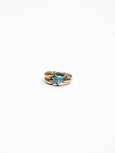 Single Stone Lava Ring | Inspired by lava, this ring features a turquoise stone in a prong setting.  *By Rila