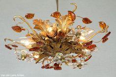 Italiaanse plafonniere 26044 bij Van der Lans Antiek. Meer antieke lampen op www.lansantiek.com