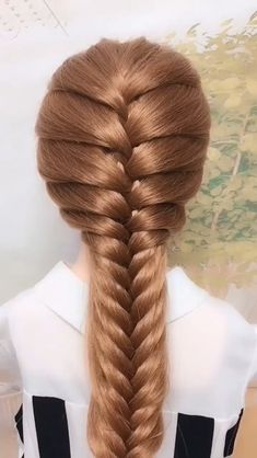 Easy Hairstyles For Long Hair, Braids For Long Hair, Diy Hairstyles, Weekend Hairstyles, Hairstyles Videos, Braids For Girls, Braided Hairstyles For Long Hair, Long Hair Dos, Hair Plaits