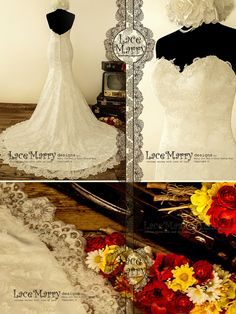 Exquisite Strapless Sweetheart Neckline Trumpet Style by LaceMarry
