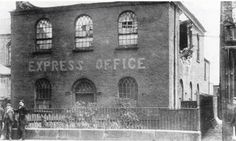 The original Bridge Methodist Chapel. This building in Stand Lane began life as the Bridge Methodist Chapel in 1815, went over to commercial use when the fast-expanding congregation built its larger church near by in Milltown Street in 1833, and was demolished in 1906 to make way for the public library which opened there in the following year. From 1883 to 1901 it was the printing works for the weekly Radcliffe Express.