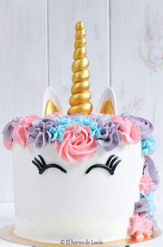 Tartas unicornio - Unicorn cakes #tarta #unicornio