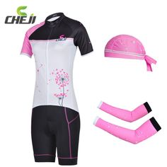 47.46$  Buy now - http://aliqr6.shopchina.info/go.php?t=32437102751 - CHEJI Five Styles Cycling Jerseys Kit Arm Warmers Sleeves Cycling Shorts Jersey Caps Bicycle Riding Jersey Tights Clothing Suit 47.46$ #magazineonlinewebsite