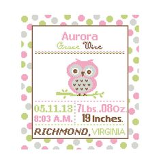 1 Cross Stitch custom Pattern Baby Boy/Girl Personalised Birth Announcement…