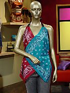 bandana wrap top. very cute.  Bet i could figure out to make it