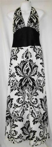 White House Black Market Size 8 Dress Womens Size 8 Dress Maxi Halter ~~