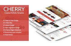 Check out Cherry - Creative Portfolio Part 2 by PremiumCoding on Creative Market
