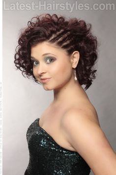 Rocked this style with long curly weave for my baby shower in June 2014. Simply looked amaze that day. I highly recommend this hairstyle.