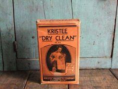 Antique Laundry Soap Box Kristee Dry Clean................TreasuredPrimitives