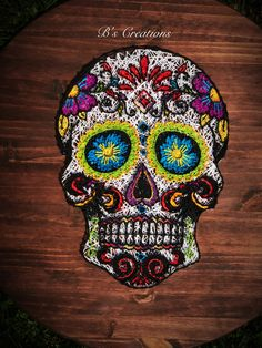 Sugar skull string art !!