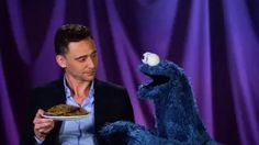 Cookie Monster Learns a Lesson from Tom Hiddleston - YouTube