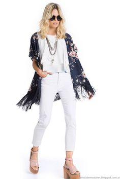 Kimonos verano 2016 ropa de moda Kevingston Mujer primavera verano 2016.
