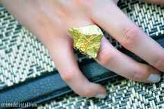 Transform a rock into a serious statement ring with this DIY.