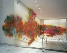 Katharina Grosse -acrylic on wall UCLA