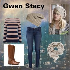 "Halloween? ""Gwen Stacy"" by mikeygooby on Polyvore"