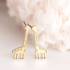 best=Gold Baby Giraffe Stud Earrings Animal Zoology Ear Posts on Luulla DIY PROM Baby Earrings, Kids Earrings, Cute Earrings, Fitted Prom Dresses, Animal Ears, Zoology, Gold Fashion, Gold Jewelry, Jewelery