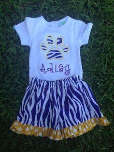 Smock Your Tot - Appliqued Tiger Stripe Pawprint Shirt or Onesie, $24.95 (http://www.smockyourtot.com/appliqued-tiger-stripe-pawprint-shirt-or-onesie/)