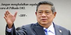 "KEREN! Inilah Nasihat SBY Untuk Pilkada DKI 2017  [portalpiyungan.com]Ketua Umum Partai Demokrat sekaligus mantan Presiden Indonesia ke-6 Susilo Bambang Yudhoyono (SBY) mengajak seluruh warga Jakarta untuk mengawasi proses Pilkada DKI 2017 mendatang. Ia mengingatkan bahwa jangan sampai ada yang memakai cara curang demi kursi DKI 1. ""Mari kita berjuang berpolitik secara baik-baik. Jangan menghalalkan segala cara di Pilkada DKI. Jangan sampai ada penyimpangan kecurangan dan penyalahgunaan…"