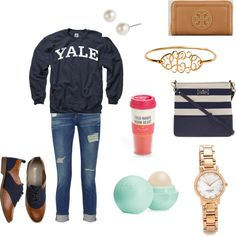 Perfect college outfit:Instead of a yale hoodie I will wear my UGA one