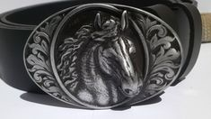 Leather Belt Horse buckle, Quality genuine leather Buckle, Men's Women's Accessory, Unisex Belt, Strong Cow Leather Gift for Biker Rocker Nose Earrings, Double Earrings, Tiny Earrings, Earrings Handmade, Leather Belt Buckle, Cow Leather, Tiny Nose Studs, Laser Engraved Gifts, Wide Band Rings