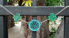 Paper Quilled St. Patrick's Day Necklace - paper quilling jewelry, paper quilling necklace, paper quilled jewelry, paper quilled shamrocks