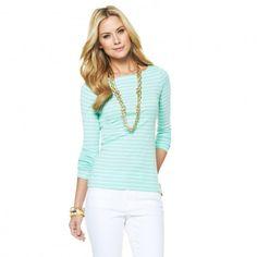 striped boat neck shirt