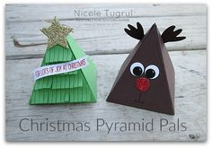 Christmas Pyramid Pals by becreativewithnicole.com