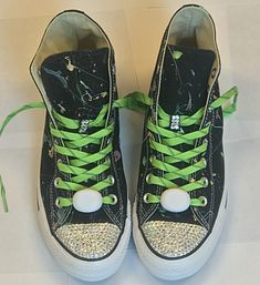 b301abcf025a Bling Converse Neon Glow in the Dark