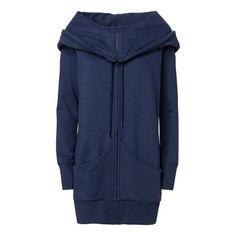 TT1013 Yuki Zipjacket Midnight Melange Fairtrade GOTS Ausgefallener Long Hoody für Damen Bio & Fair