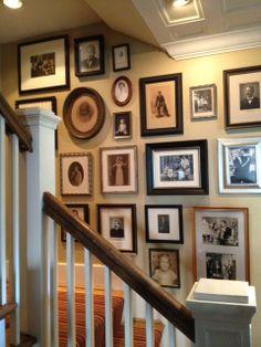 Hallway family photographs