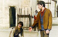Arthur and Merlin first time meeting (gif)