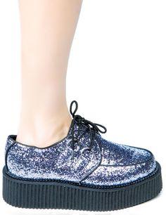 glitter creeper shoes platform