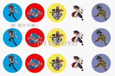 Beyblade bottlecap images/cupcake toppers