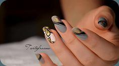 nail art fleur foil