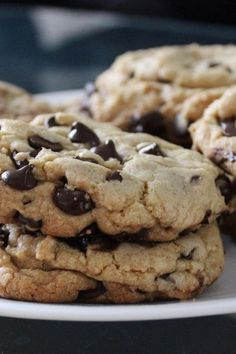 These cookies are the pinnacle of perfection! If you want a big, fat, chewy cookie like the kind you see at bakeries and specialty shops, then these are the cookies for you! Baking Recipes, Cookie Recipes, Dessert Recipes, Desserts, Big Cookie Recipe, Vegan Recipes, Vegetarian Chocolate, Chocolate Recipes, Lindt Chocolate