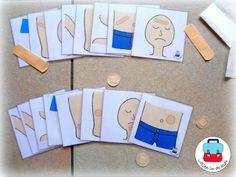 Pleisterkaarten ( Jolien in de klas) Body Preschool, Preschool Crafts, Doctor Role Play, Diy And Crafts, Crafts For Kids, Reggio Classroom, Hospital Doctor, Dramatic Play, Pretend Play