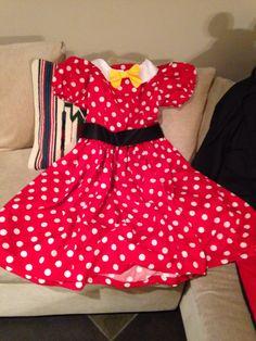 Minnie Mouse dress I made