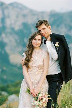 Floral Design: Sonya Khegay - http://www.stylemepretty.com/portfolio/sonya-khegay Groom's Attire: Hugo Boss - www.hugoboss.com Wedding Dress: Rembo Styling - http://www.rembo-styling.com/   Read More on SMP: http://www.stylemepretty.com/destination-weddings/2015/11/20/romantic-honeymoon-session-in-montenegro/